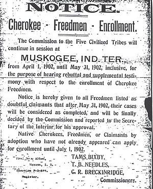 Cherokee Freedmen Facts – by Marilyn Vann