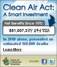 Tell Congress: Don't cut off our clean air   …Union of Concerned Scientists