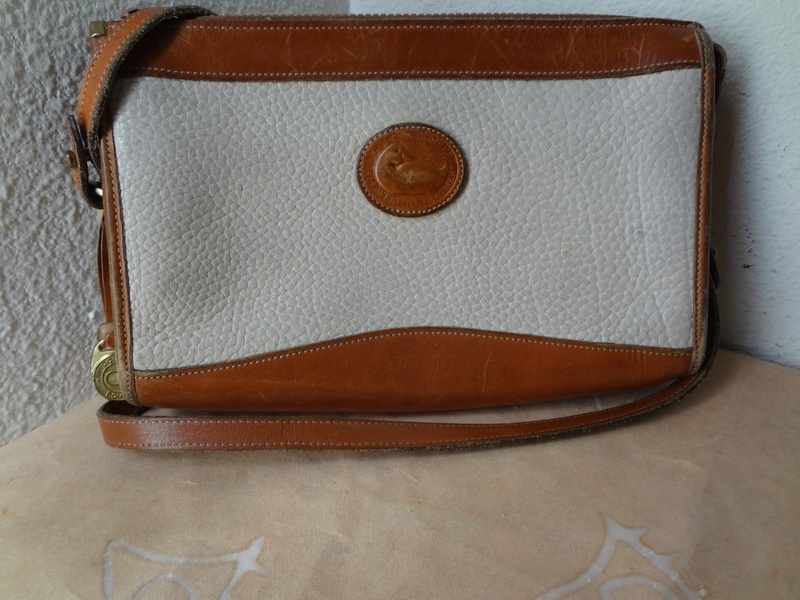 dooney&bourke Cream and Tan leather