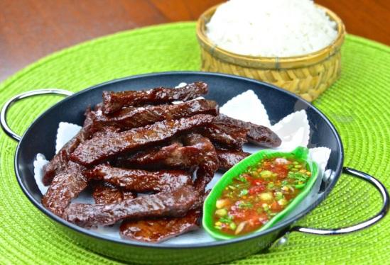Thai style fried sun-dried beef jerky – Neau Dad Deaw by The High Heel Gourmet 12